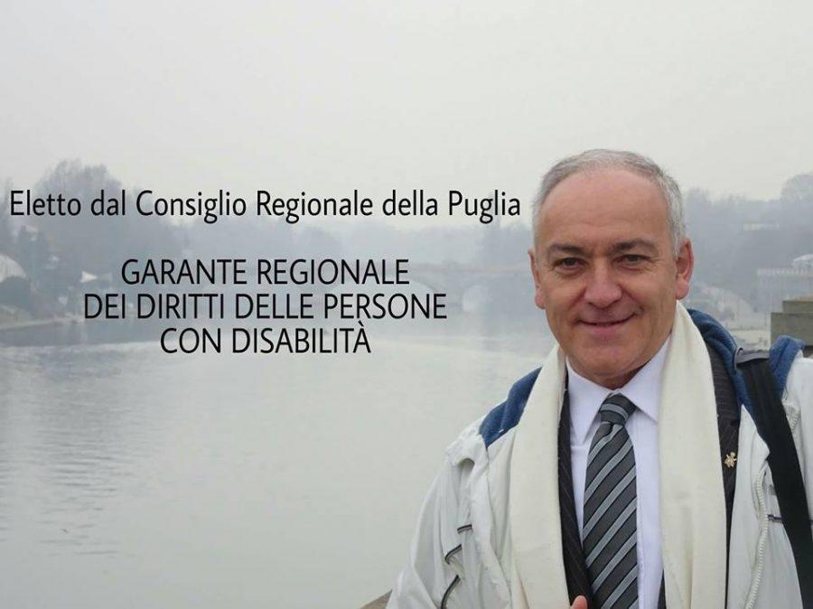 Garante dei diritti delle persone con disabilità della Regione Puglia, il nostro saluto a Pino Tulipani
